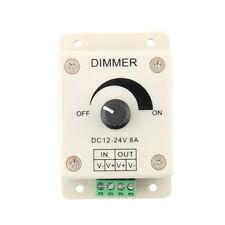 DC 12V 8A LED Light Protect Strip Dimmer Adjustable Brightness Controller KK
