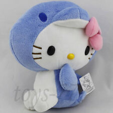 "Hello Kitty Cat cos Dolphin 7"" Blue Stuffed Animal sea pig Plush Toy cuddly Doll"