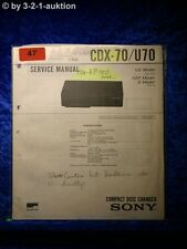 Sony Service Manual CDX 70/U70 CD Wechseler (#0047)