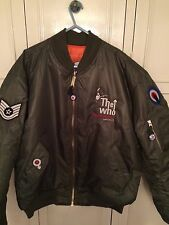 THE WHO 5 Logo Embroidery Quadrophenia Ma1 Flight Jacket All Sizes Green & Black