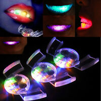 LED Light up Flashing Mouth Piece Glow Teeth Mouth Guard Halloween Party Favors