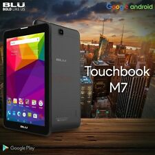 "Blu Touchbook M7 P270 7"" HD Intel Dual Sim Tablet GSM Unlocked Phone Black New"