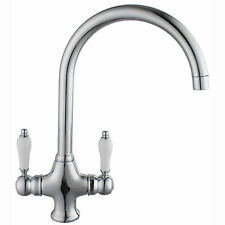 kitchen taps Victorian Chrome Plated  Mixer Tap - Swivel Spout belfast sink