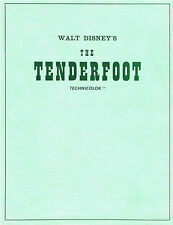 "WALT DISNEY'S ""TENDERFOOT"" PRESS SYNOPSIS SHEET"