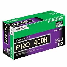 Fuji Color Pro 400H ISO 400 120 Color Negative Film 5 Rolls 7/2017 Free Shi