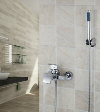 Modern Bathroom Shower Set Faucet Bathtub Mixer Tap Single Handles Shower Chrome