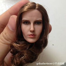 "1/6 scale custom beautiful Golden Hair Female girl Head Sculpt Lady fit 12"" body"