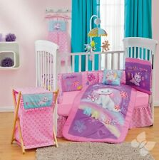 New Baby Girls DISNEY PRETTY MARIE Pink Purple Nursery Crib Bedding Set 10 Pcs