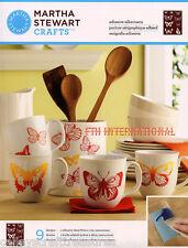 Martha Stewart Butterflies ~ Adhesive Silkscreen Stencils #33241~ 9 designs