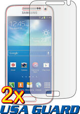 2x Samsung Galaxy S4 Mini Duos GT-I9192 Clear LCD Screen Protector Guard Cover