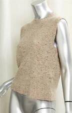 VALENTINO Womens Sand Brown Cashmere SleevelessBlouse Top Pullover Sweater XL