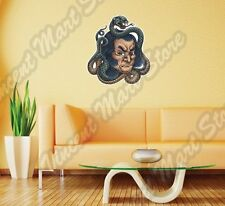 """Chinese Man Face Snake Tattoo Painting Wall Sticker Room Interior Decor 22""""X22"""""""