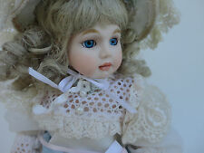 Vintage - Fine All Porcelain Doll {Jointed Legs & Shoulders} Lace Dress 12""
