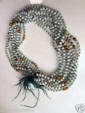 3 Color Jade Bead Necklace Chinese Natural A Jadeite Handmade one piece green