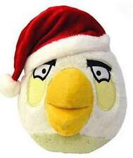 "COMMONWEALTH TOYS 91792 5"" ANGRY BIRD W/ CHRISTMAS HAT WHITE"