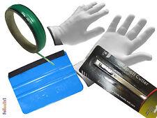 Auto Folien Profi CarWrap Set 3M Rakel +Handschuhe +Metall Cutter +KnifelessTape