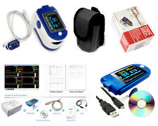 New SpO2 PR Finger pulse oximeter,Blood Oxygen Monitor,USB line,Software,FDA,CE