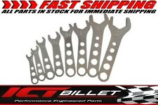 Billet Aluminum 8pc Wrench Set 3 - 20 AN Fitting Line SAE Standard Wrenches 466
