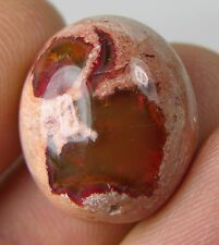 #8 12.75ct Mexico 100% Natural Rough Fire Opal in Matrix Cabochon Gemstone 2.55g