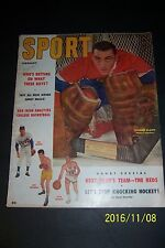 1957 Sport Magazine MONTREAL CANADIANS Jacques PLANTE Stanley Cup CHAMPIONS