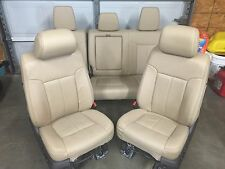 1999-2015 FORD F250 F350 SUPER DUTY FRONT AND REAR SEATS TAN LEATHER NICE