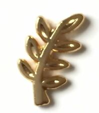 Masonic Freemason Evergreen Sprig of Acacia Crested Small Lapel Pin Badge