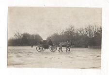 PHOTO ANCIENNE - Voiture à cheval  Attelage Calèche Cocher - Vers 1905