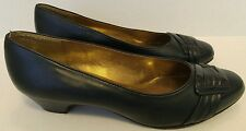 SOFT STYLE BY HUSH PUPPIES WOMEN'S NAVY FASHION PUMPS HEELS SHOES SIZE 9.5M