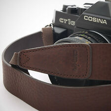 Dark Brown Leather Cam-in DSLR Camera Strap CAM2245 UK Sotck