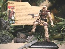 GI JOE ~ 2008 LEATHERNECK ~ MISSION BRAZIL STYLE ~ 100% COMPLETE & FILE CARD