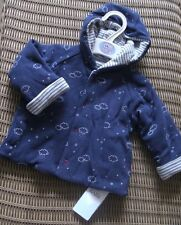 Ex store Marks & Spencer 3-6 months boys reversible hooded Jacket BNWT