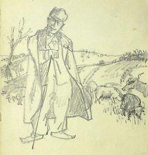 Walter Marcuse-Pastor-lápiz para dibujo 1935