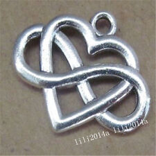 10pc Charms Heart Infinity Friendship Pendant Beads Jewellery Making  L946