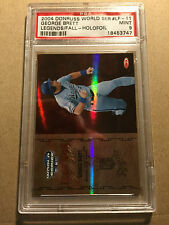 George Brett 2004 Donruss World Series Legends HOLOFOIL #LF-11 PSA 9 MINT 17/25