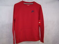 Nike Boys' Tech Fleece Crew Sweatshirt Red 799479 672 Size Large