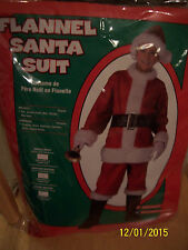 Flannel Santa Suit CHILD Costume Size M Medium 8-10 NEW IN PACKAGE