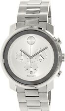 Movado Men's Bold 3600276 Silver Stainless-Steel Swiss Quartz Watch
