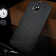 2014 New Luxury Ultra Thin Matte Back Cover Soft Case with Film For HTC One 2 M8