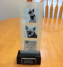 Malden World's Best Dog Photo Frame. Holds 3- 2X2 Inch Photos. New.