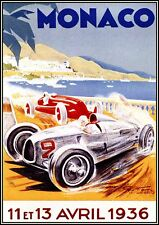 A1 SIZE canvas VINTAGE MONACO GRAND PRIX  PRINT  ART PAINTING 1930