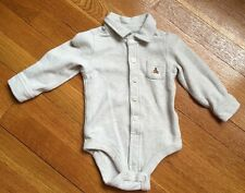 Baby Gap Tan Long-sleeved Button Shirt, size 6-12 months