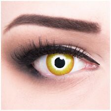 "Coloured Contact Lenses Yellow ""Sun Burst"" Contacts Color Carnival + Free Case"