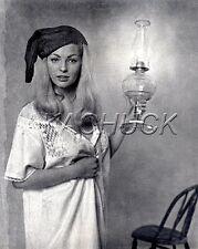 Blonde Gown Nightcap w Oil Lantern HENDRICKSON PHOTO Original Artist Studio D930