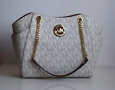 MICHAEL KORS Damen Tasche JET SET TRAVEL vanilla/luggage  PVC/Leder 35F5GTVT3B