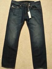 Diesel Safado 0RUS6 Men's Dark Blue Wash Denim Regular Slim Straight Jeans 32 32