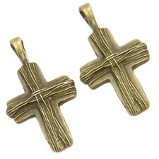 250pcs Antiqued Bronze Alloy Cross Shapes Pendants Traditional Charms Jewelry J