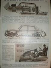 Article will pistons be replace by Gas-turbine car 1948