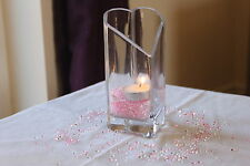 2000 x CLEAR & LIGHT PINK 4.5MM CHRISTENING DIAMOND CONFETTI TABLE DECORATION