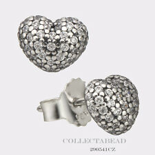 Authentic Pandora Sterling Silver In My Heart CZ Stud Earrings 290541CZ
