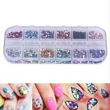 3600pcs Nail Art Rhinestones Decoration For UV Gel Acrylic Round Glitter 1.5mm